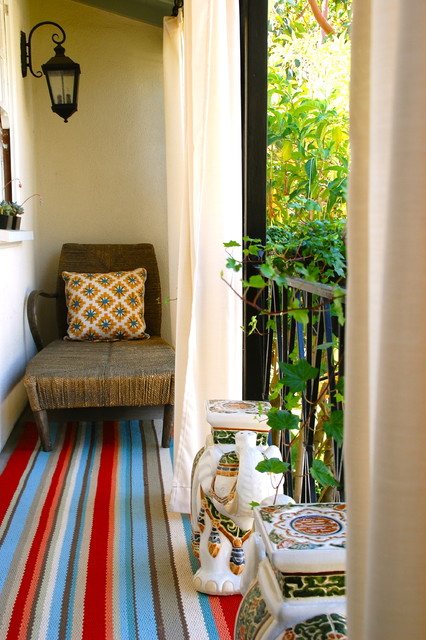 Outdoor reading balcony eclectic-porch