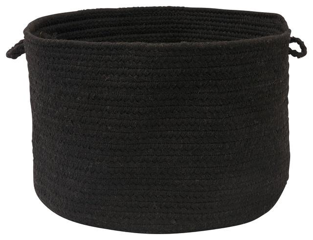 "Sedona, Black Utility Basket, 18""X12"" contemporary-baskets"