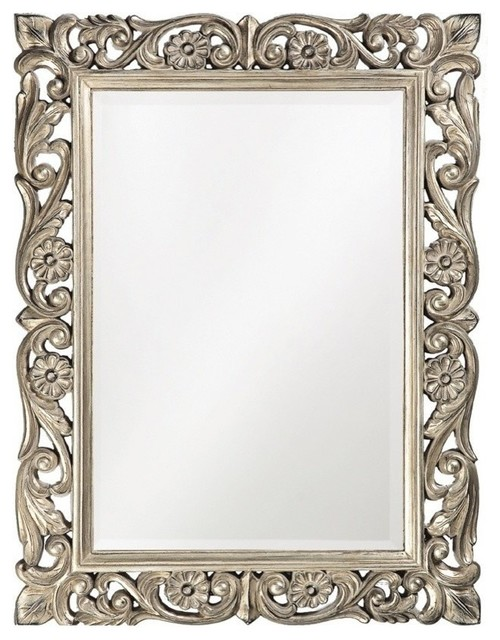 Howard Elliott 2113 Chateau Antique French Pewter Mirror