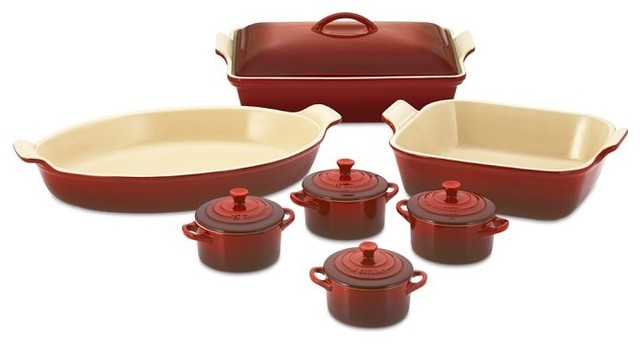 Le Creuset Stoneware 12 Piece Bakeware Set Red  : traditional bakeware from www.houzz.com size 640 x 344 jpeg 29kB
