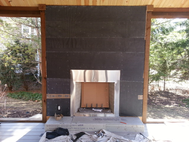 Natural Stone Veneer Fireplace Reface Modern Chicago By Fireplace Chimney Authority