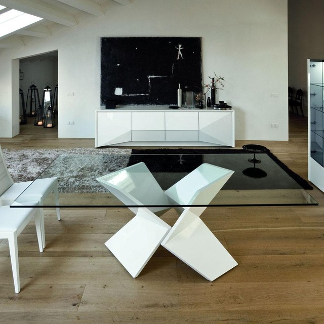 Sapphire Dining Table in White contemporary-dining-tables