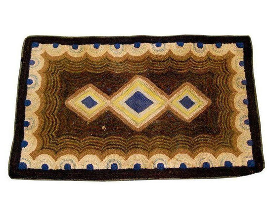 American Hooked Rug - $750 Est. Retail - $325 on Chairish.com -