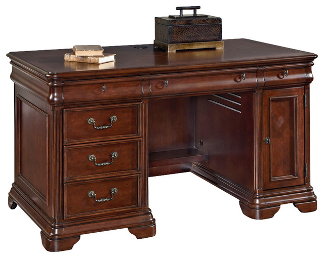 hammary home office small executive desk traditional