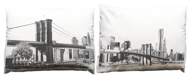 Build Your Block Brooklyn Bridge Pillow Case Set modern-decorative-pillows