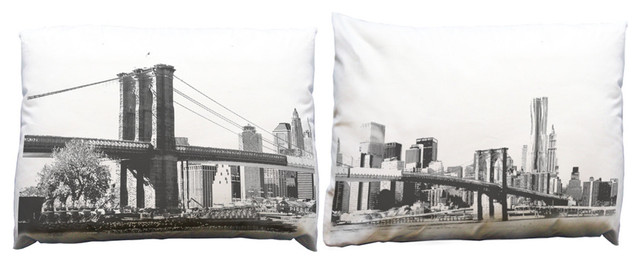 Build Your Block Brooklyn Bridge Pillow Case Set - modern ...