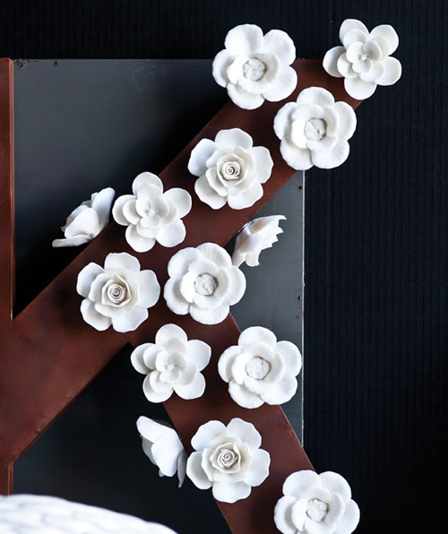White Floral Magnets Contemporary Home Decor by The