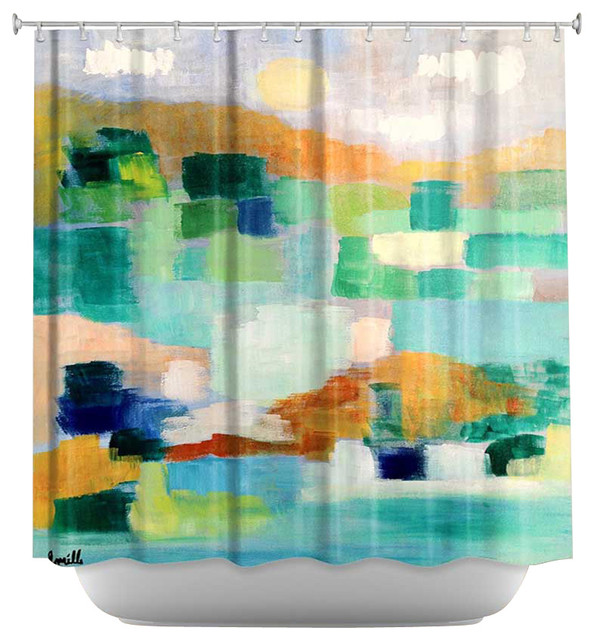 Shower Curtain Artistic - Under the Birds contemporary-shower-curtains