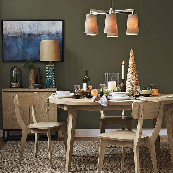 Modern Expandable Dining Table: Grace Round Expandable Dining Table
