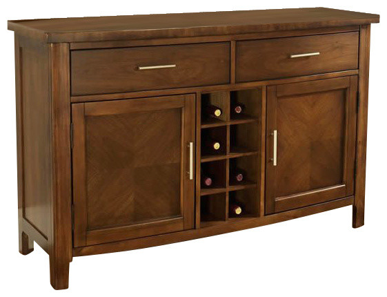 Somerton Dwelling Gatsby Dining Server In Medium Brown Transitional Buffe