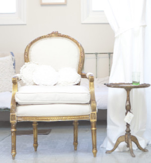 Vintage Louis XVI Chair traditional-armchairs-and-accent-chairs