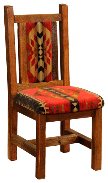 Upholstered Reclaimed Wood Chair Standard Finish