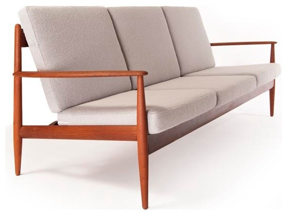 Vintage Danish Modern 3 Seat Sofa Modern Furniture Minneapolis By Dan