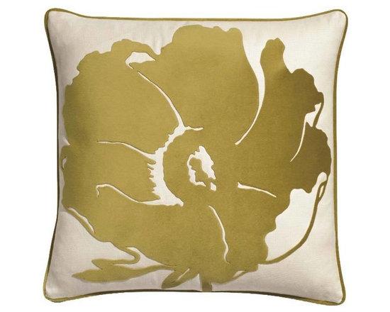 Matilija Green Tea Velvet Pillow -