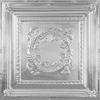 2434 Tin Ceiling Tile - Bowed Wreath wallpaper