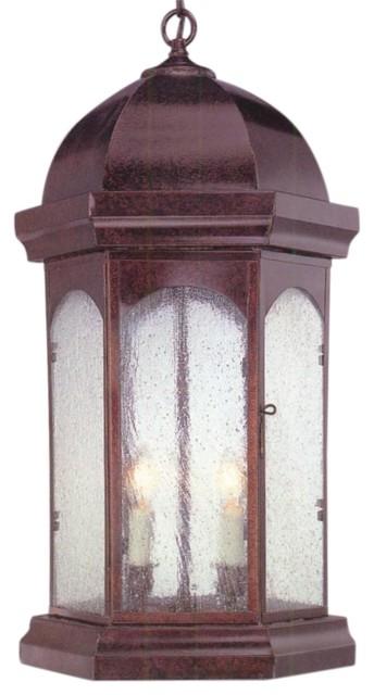 Landon Jr. Pendant Style Hanging Copper Lantern by Lanternland traditional-outdoor-hanging-lights