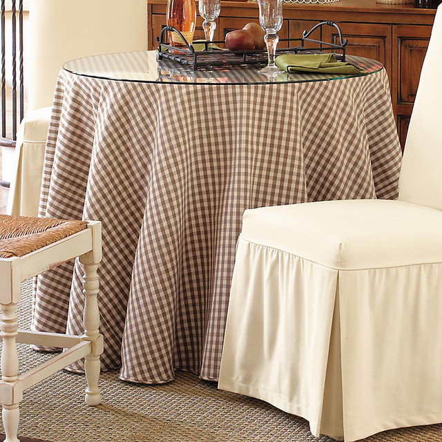 Terrific Table Glass Topper - 36 inch Diam. contemporary-tablecloths