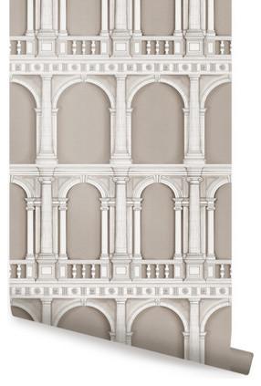 Classic Architecture Beige wallpaper