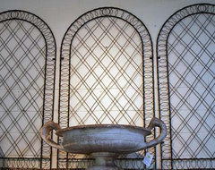 Black Iron Arched Lattice home-fencing-and-gates