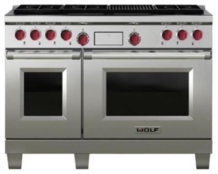 Wolf 48-Inch Gas Range With Charbroiler and Griddle contemporary gas ranges and electric ranges