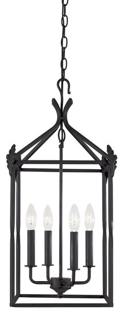 Hanging Lantern in Rust traditional pendant lighting