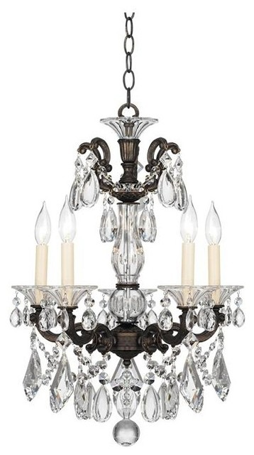 """Crystal Schonbek La Scala Collection 17"""" Wide Crystal Chandelier traditional-chandeliers"""