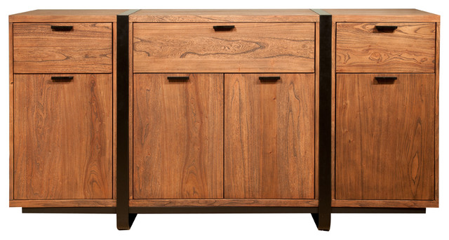 Santa fe sideboard contemporary buffets and sideboards