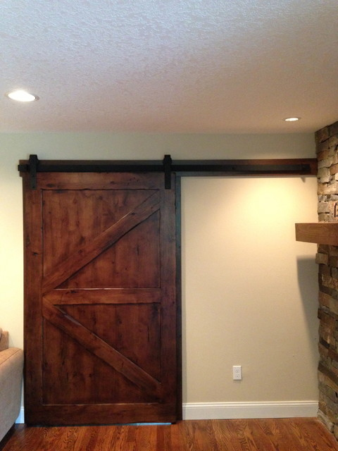 Sliding Barn Door Knotty Alder Arrow Door Contemporary