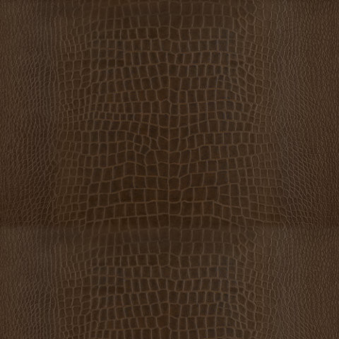 Yacare Crocodile Mahogany Wallcovering tropical-wallpaper