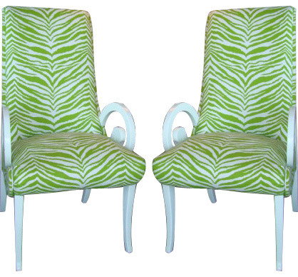 Restored Palm Beach Regency Chairs eclectic-chairs