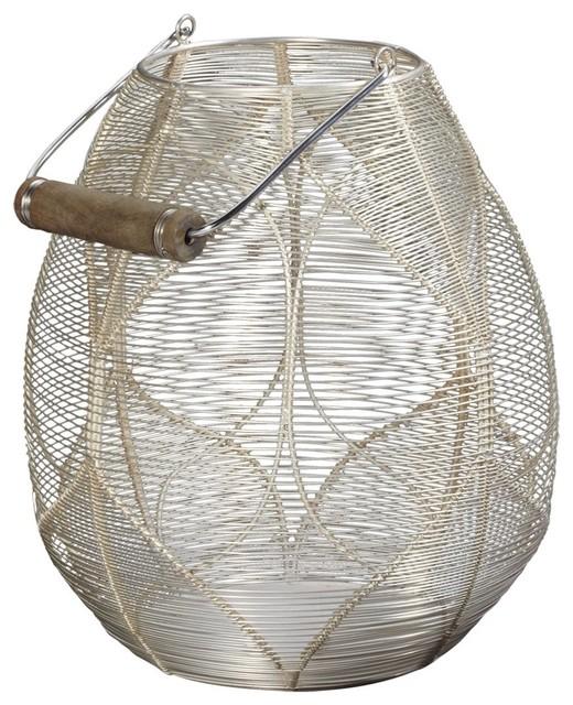Lazy Susan 346019 Silver Wire Palm Basket contemporary-baskets