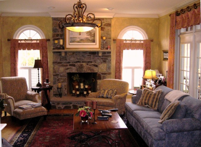 French country designs family room transitional family Country living room design ideas
