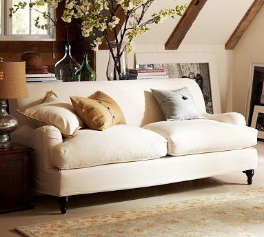 Carlisle Slipcovered Sofa Down Blend Wrap Cushions