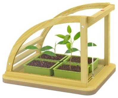HABA Toy Hape Eco Greenhouse In Bamboo modern-kids-toys-and-games