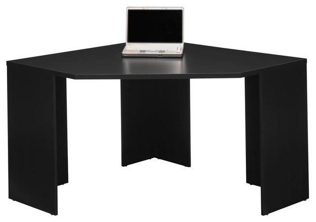 Stockport Corner Desk, Black - Modern - Desks And Hutches