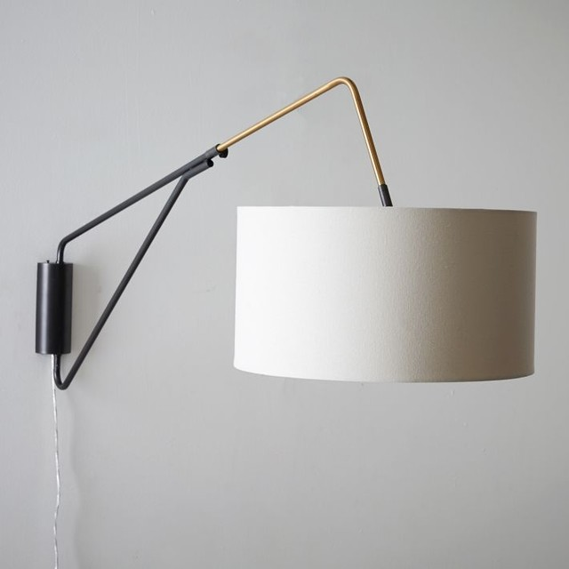 Wall Lamps West Elm : Midcentury Overarching Wall Sconce - Midcentury - Wall Sconces - by West Elm