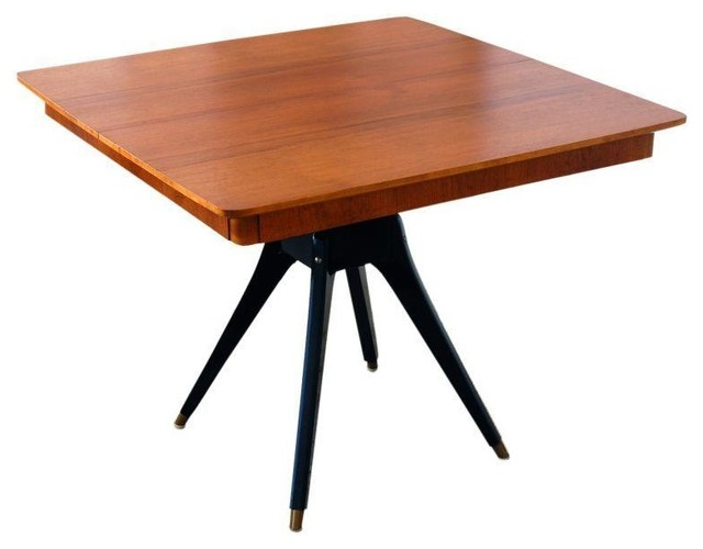 Used Mid Century Teak Pedestal Square Dining Table  : midcentury dining tables from www.houzz.com size 640 x 500 jpeg 32kB