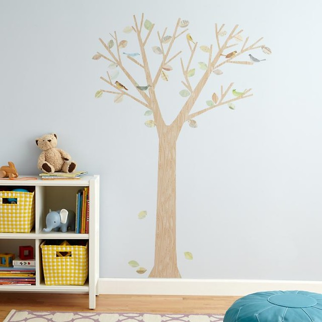 The Birds And The Leaves Wall Decal contemporary-wall-decals