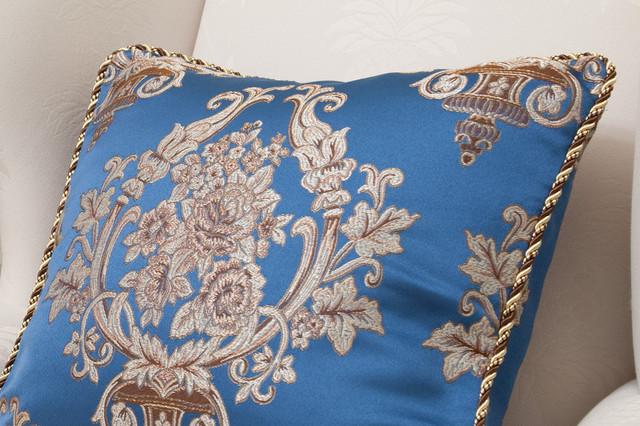 Fabric decorative pillow - deep blue lantern decorative-pillows