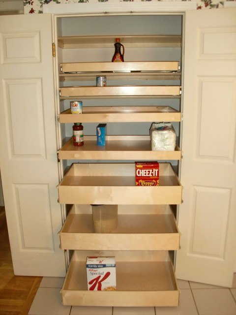 Closet & Walk-In Pantry Roll Out Shelves - Pantry Cabinets - boston - by ShelfGenie of Massachusetts