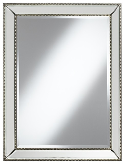 "Traditional Empire 30"" x 40"" Studded Wall Mirror traditional-mirrors"