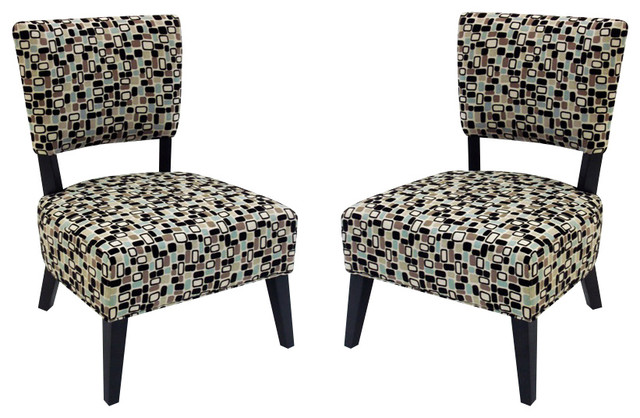 geometric accent chair set of 2 by armen living