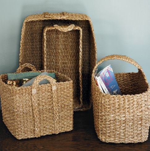 Braided Storage Basket for Toys eclectic baskets