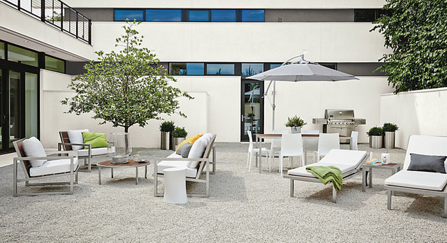 Montego Outdoor Seating in Stainless Steel by R&B contemporary