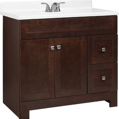 Style Selections 36-in Espresso Alstead Transitional Bathroom Vanity