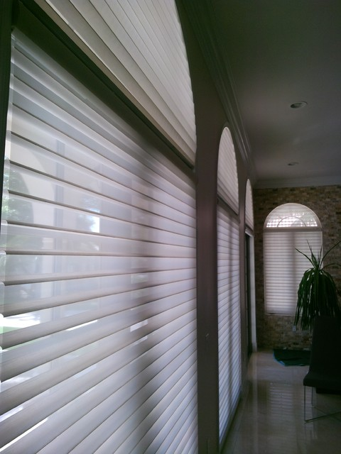Arched And Motorized Hunter Douglas Silhouettes Contemporary Window Treatments Miami By