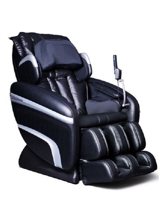 Osaki OS-6000 Reclining Zero Gravity Massage Chair /w Remote & Music Sync - The ly released OS-6000 massage chair is controlled by a microcomputer that performs various intelligent massage styles and combinations, like Kneading, Tapping, Clapping, Shiatsu, Rolling, Vibration and Air Massage.Features:- Computer Body Scan - The ly designed and equipped OS-6000 is built on an S-track rolling technology so that the roller heads can provide a more consist pressure massage throughout the back. Traditionally massage chairs have been designed with a linear vertical motion, preventing even pressure in the lower and upper back. Designed with a set of S-tracks & 3D technology, it allows the rollers to focus on the neck, shoulder and lumbar massage areas according to body's curvatures- Zero Gravity - The multi stage zero gravity position will minimize the vertical pressure along the spine axis.- Quad Roller Head Massage System - The OS-6000 is equipped with twin rollers to mimic the feel of human thumbs & fingers, enhancing the massage experience.- 51 Air Bag Massagers - Fifty-one air bags are accurately placed to massage the vital areas such as the neck, shoulder, back, seat, arms, palms, calves, feet and the lumbar area to add extra comfort and support.- Automatic Leg Scan - The calf and foot massager is capable of making adjustment according to each individual's leg length to ensure that the massage air bags are concentrating on the correct areas.- Music Sync Massage - Music sync with two speakers in the backrest and will provide a vibration massage according to the pace of the music.- Remote Control - 6 Auto-programs: The OS-6000 has 6 unique preset programs.- In the manual massage mode for the upper body there are three options; Six methods with various levels of speed, intensity that may be adjusted and three kinds of width for the roller heads.- The handheld remote has a bright LED display for easy use and operations.- The chair is equipped with MP3/iPod docking to enjoy