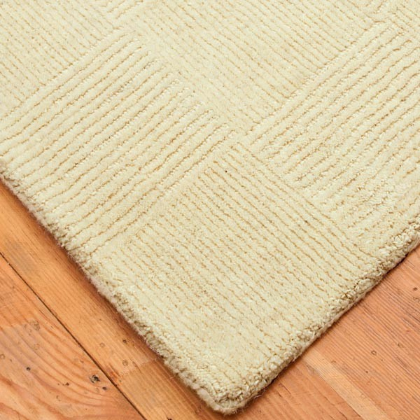 Hacienda Wool Rug 4-feet by 6-feet, Vanilla contemporary-rugs