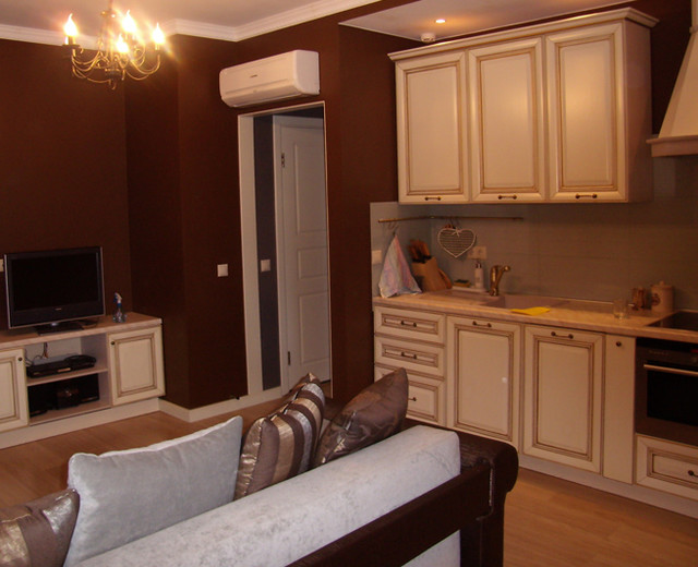 Family room with kitchen eclectic-family-room
