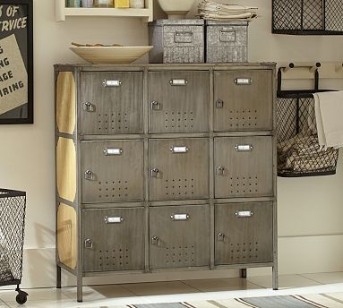 Arden Wood Amp Metal Locker Traditional Side Tables And